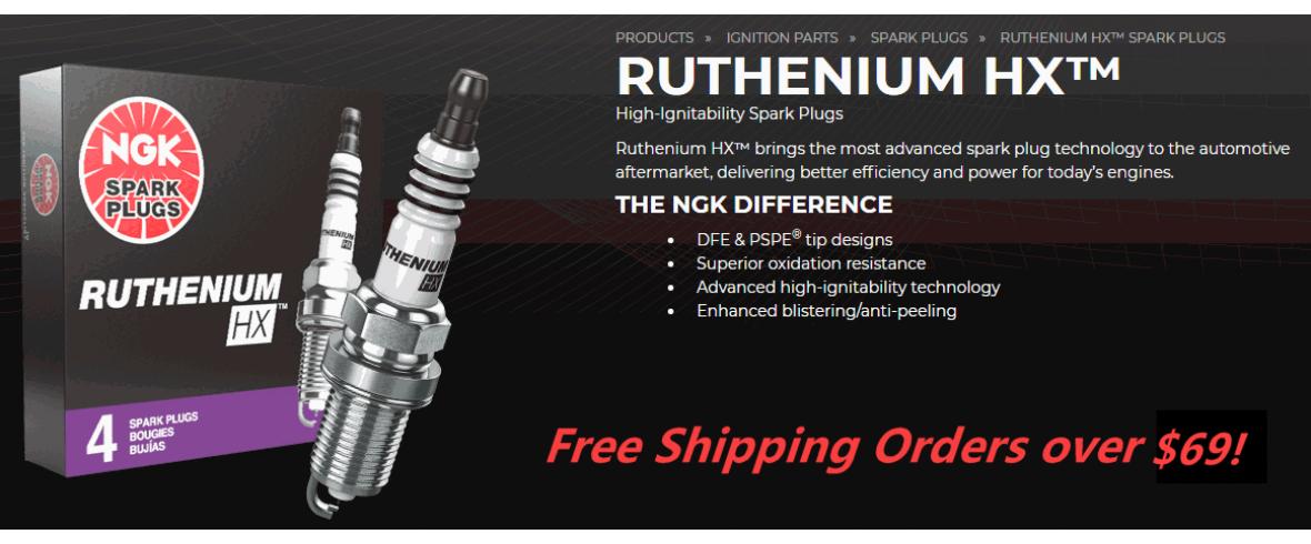 NGK Ruthenium Spark Plugs - ClubPlug.ca
